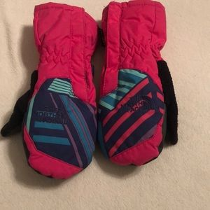 Toddler Girls The North Face Size 4T Snow Mittens